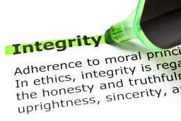 Integrity is a core value