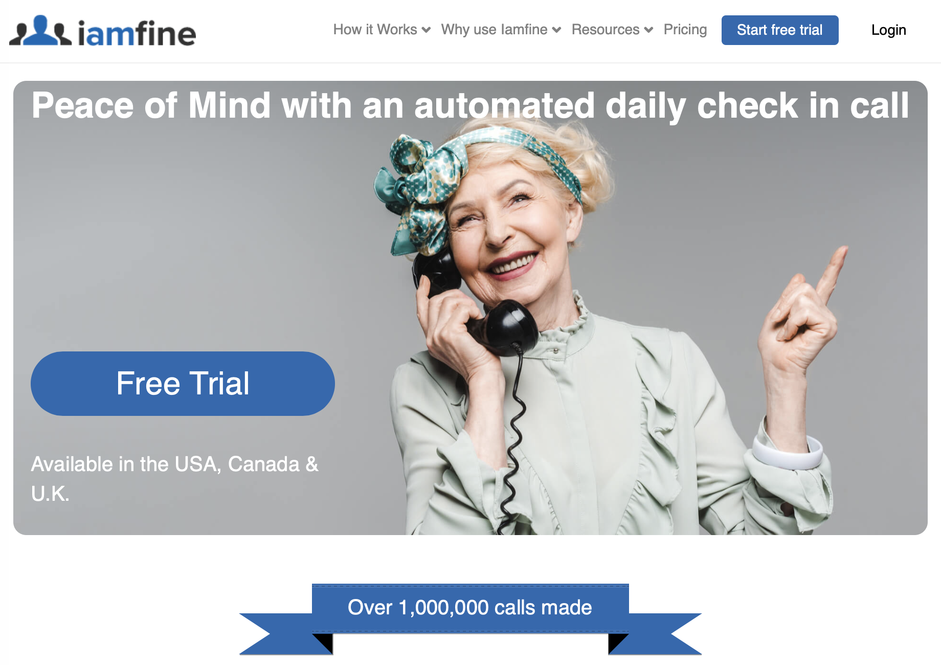 Iamfine daily wellness calls and Covid symptom tracking